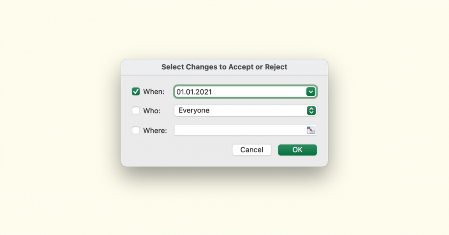 How to Review Accept Reject Changes in Excel